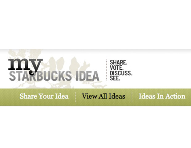 My Starbucks Idea is Starbucks' way of crowdsourcing ideas with their partners and customers using social media. Since the coffee company has launched My Starbucks Idea 150 ideas have been birthed. For example, the Starbucks mobile payment for Android was identified by a customer and implemented.