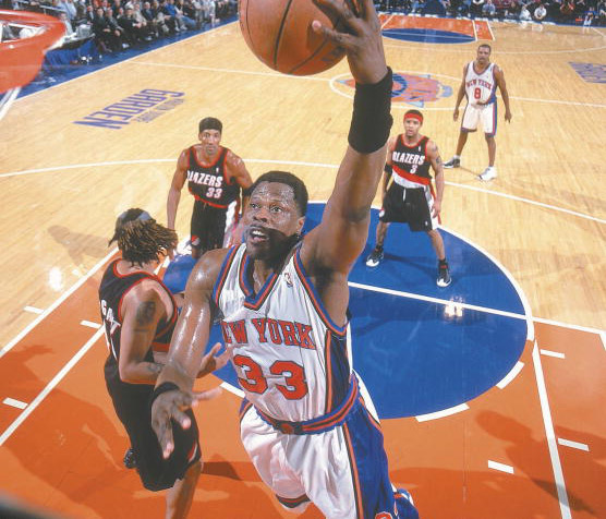 Patrick Ewing  Ewing was a warrior. As the No. 1 pick in the 1985 NBA Draft, he was a franchise player throughout his career—from when the Knicks were in the doldrums to when they became legitimate contenders in the late 90's. The 11-time All-Star led his team to the playoffs numerous time before making it to the 1994 NBA Finals, where he set the then-record for most blocked shots in a finals series, as well as the then-record for most blocked shots in a finals game (8). Still, that wasn't enough to secure a championship for New York. That was the closest the 7-footer came to the gold before retiring to become an assistant coach.