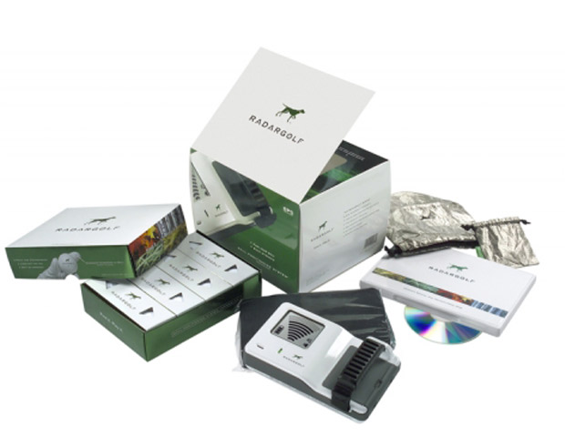 RadarGolf   If your man is a golfing enthusiast then RadarGolf balls will not only save him money in the long run, but also improve his game.  Each ball is manufactured with a small RFID tag that helps the golfer pinpoint the location of lost balls from 30 to 100 feet. The full RadarGolf System costs $199.95, which includes RadarGolf handheld and one dozen RadarGolf Balls.