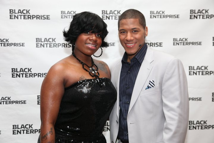 American Idol Winner and Grammy nominated artist Fantasia alongside Black Enterprise Business Report Correspondent Shannon Lanier at the 6th Annual Women of Power Summit.