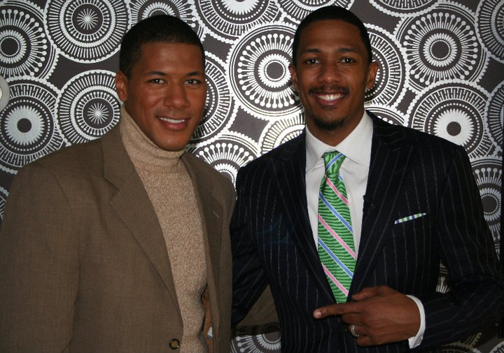 Power Player Nick Cannon, Chairman of TeenNick, multi-talented actor and comedian poses with senior producer Shannon Lanier.