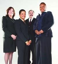 (l to r) Tara Amaral, ADP; Pamela Culpepper, PepsiCo; Emilio Egea, Prudential; Patricia Harris, McDonald's