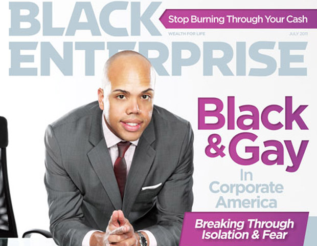 Black & Gay in Corporate America Black Enterprise cover July 2011