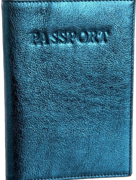 COVER UP IN STYLE Have some pre-destination fun with a metallic turquoise Italian leather passport holder that can easily slide into any billfold, purse, or front zip pocket. Easy to find, and pleasing to the eyes, it can really comes in handy when fidgeting   through your bag at the check in counter. Tusk Women's LT-149 Passport Cover, $40, endless.com