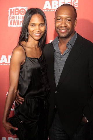 Jeff Friday, founder of the American Black Film Festival, smiles for the camera with his wife, Nicole. (Photo by Terrence Jennings)