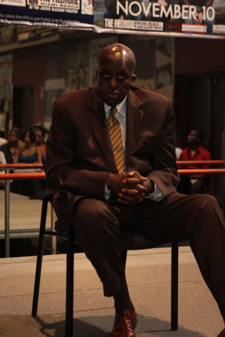 Host of Thursday afternoon's Bill Duke's Actors Boot Camp, veteran actor and producer Bill Duke led a three-day workshop that offered sage advice for actors on how to hone their craft and build their career. (Photo by Terrence Jennings)
