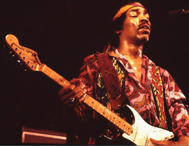 JIMI HENDRIX, 27:  A talented musician and singer/songwriter, Hendrix revolutionized the use of the electric guitar with his distorted amp sound and use of wah wah pedals, breathing new life into rock music. Despite hailing from Seattle, Washington, he received a lion share of fame in Europe before gaining accolades for his trailblazing work in the US. After a night of partying, Hendrix was found dead in the London apartment of his girlfriend on September 18, 1970. He was just 27.