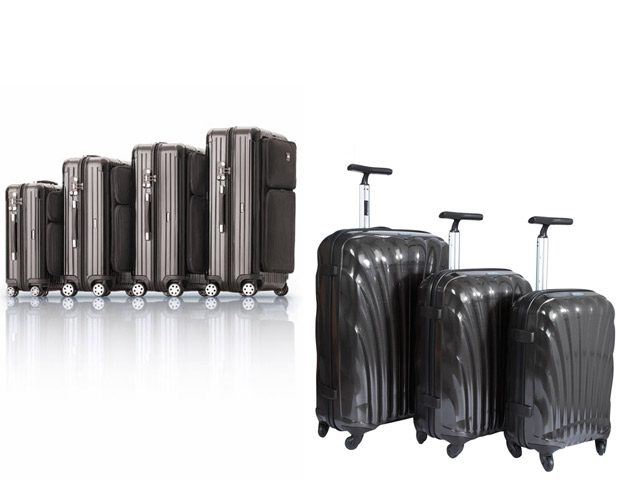 LUGGAGE:   Pockets and wheels—that's it. When it comes to luggage these two features will be your most valuable assets. While style is important, this is the one time where function ties for first place. Remember that short-lived love affair with steamer trunks you admired as a kid? You marveled at Prince Hakeem in Coming to America as his staff lugged the heavy load through the airport. We admired him as well until we encountered the extra baggage charges. The  Rimowa Salsa Hybrid ($650-750) [left] and  Samsonite Black Label Cosmolite ($450-600) [right] are two luggage sets that hit all our major requirements for style, quality, and usefulness. They're well constructed, durable, lightweight, have hard cases shells, adjustable handle, lots of extra compartments, and employ the four-wheel spinner feature we as travelers have grown to know the many advantages of.