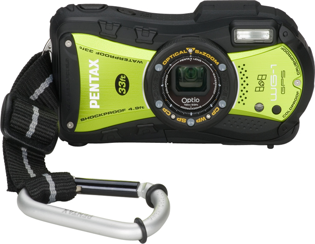PENTAX Optio WG-1 GPS ($399.95, pentaximaging.com)  For adventurists looking to capture the quest—above ground or below water, this 14 megapixel waterproof digital camera can snap any image under almost any weather condition. Don't believe us? Well, the camera is crushproof, withstanding up to 220 pounds of force; dustproof, with a design that resists dry, dusty environments; shockproof, with the ability to endure falls of up to 5 feet, and coldproof, for those traveling to sub-freezing locales.  Its built-in digital shake reduction ensures photos are sharp. You can even record in HD at up to 30 frames per second.  The camera's high-tech capabilities allows for GPS functioning to track and record positional data recording with images for geo-tagging application. The camera is available in black and green.