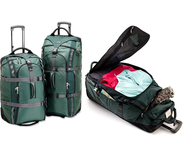 """ROLLING DUFFLE BAG:   As much as we love our Rimowa luggage, and we really, really love our Rimowa luggage, sometimes you just need a bag you can drag up the side of the mountain in Machu Picchu or throw on top of a Tap Tap in Haiti. When it's time to """"rough it,"""" we pull out our REI Wheely Beast Rolling Duffel, ($115-189). It's beat up, stained, torn, and we still can't figure out what that smell was that forced us to have to air it out for a week after Belize, but it's also strong, large, durable, and the wheels still spin after all these years. It has even won some awards from people considerably more """"outdoorsy"""" than us. Go figure."""
