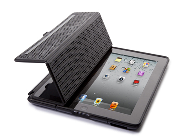 Bonus: CandyShell Wrap for iPad 2   ($54.95, speckproducts.com)  Whether you're vacationing in the luxurious Parisian locale of Champs-Élysées or hiking in Colorado's Red Rock Canyon, your iPad 2 can travel along safely. The hard shell exterior combined with the shock-resistant rubberized interior keeps your prized possession protected. For an added bonus, the front cover folds back to become a viewing stand and the case has a flip-back panel for use in a dock or with a keyboard (which is not included).