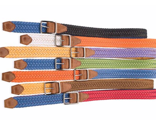 BELT  Martin Dingman reversible braided belts ($38, on sale from $95) in various color combinations make for a great accent piece for any summer outfit.
