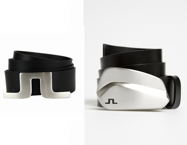 THE BELT  Accessories make an outfit but as men we're very limited in that category. A great belt, however, will not only keep your pant firmly on your waist, but also make a statement to all checking you out in mid-swing. The J Lindeberg classic Bridger Pro Leather belt ($108) on the left or the Miami Pro Leather belt ($108) with unique golf club design on the right are both great options.