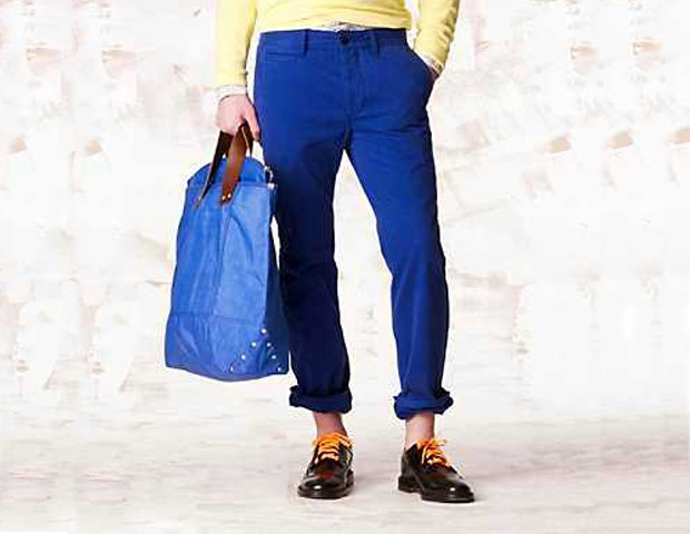 CHINOS  Add a burst of color to your summer wardrobe with these classic Tommy Hilfiger straight fit Chinos in blue ($50, on sale from $59).
