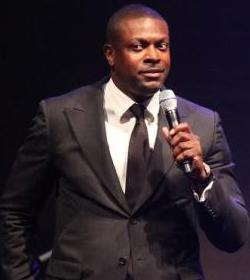 Comedian Chris Tucker on stage