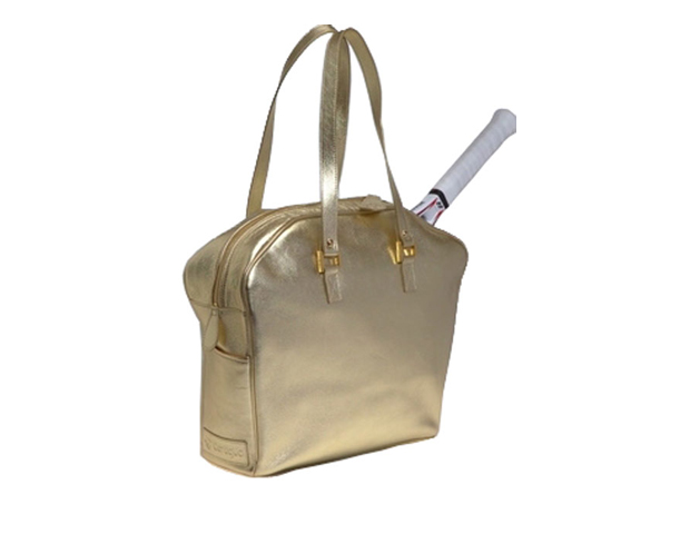 "GOLD RUSH: Cortiglia Tennis Tote ($435) Feel like the chicest girl on the court with a must-have glitzy carrier that made Oprah Winfrey's ""O List."" It's perfectly designed to handle your wonderful accessory of choice, the tennis racquet."