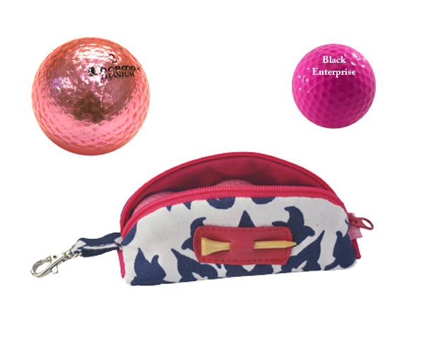 PIZAZZ ON THE GREEN: Even your golf balls can reflect your golf style savvy. Try  these Metallic Pink golf balls ($4.79) or get