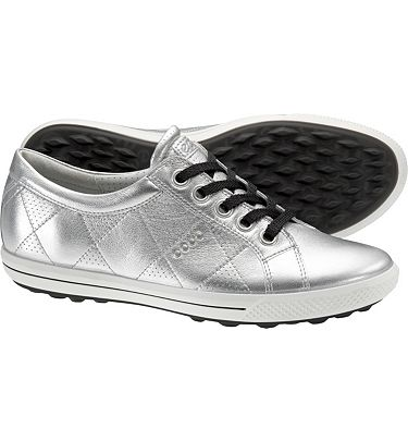 PLATINUM PLUS: Ecco Women's Golf Street Premier, Light Silver Golf Shoes ($104) Perfect for on & off course, these stylish sleek shoes feel light and sturdy. Metallics are the new neutrals and can be paired with brights, black, white, and patterns.