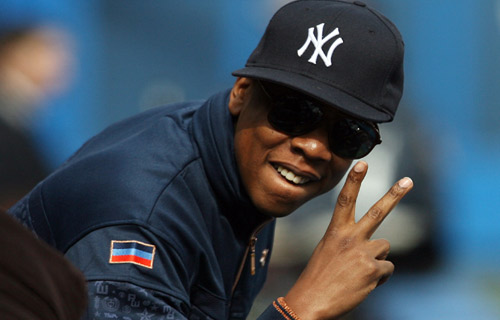 "NEW YORK YANKEES APPAREL: As a native New Yorker, Jay-Z has long been a supporter of the hometown Yankees, sporting the MLB team's baseball cap in countless photos. On his 1999 single, ""Do It Again (Put Ya Hands Up),"" he famously rhymes, ""Hat cocked can't see his eyes, who could it be?/With that new blue Yankee on, who but me?"" Jay-Z's continued support of the Bronx Bombers may have inspired more hip-hop fans to reach for a Yankees fitted, with apparel maker New Era stating that sales had risen 20% each year leading into 1999, but more than likely the sports team's brand was catapulted by their 27 World Series Pennants, including one in 2000. However, last year Jay-Z did help move some of their products when he announced limited edition co-branded merchandise for sale at Yankee Stadium, including a special All-Black Everything Yankees baseball cap via New Era, which featured design nods to his The Blueprint 3 album and a $50 price tag."