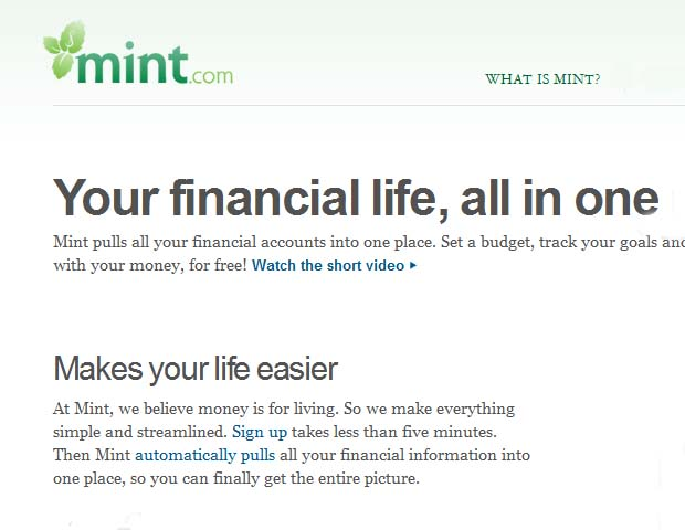 Mint: Quicken is the classic money management software that many people use to keep track of their finances.  And the company recently joined forces with Mint, making managing one's budget as quick and convenient as the click of a mouse. You can even pick up useful tips on everything from how to budget for vacation to investing. A bonus: You can connect with other freelancers via blog posts.