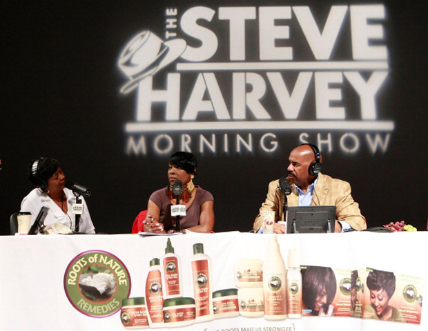 TALKING BIG MONEY  In 2005, The Steve Harvey Morning Show was partnered in a joint syndication deal with Premiere Radio Networks and Inner City Broadcasting Corporation. The widely popular show went on to replace the worshipped Tom Joyner Morning Show in Chicago on WVAZ. Harvey flaunts an audience of more than 7 million people, and airs in 64 markets. On average, a 30-second ad on the show garners quote rates of $8,650 and $1,850 for weekday and weekends, respectively.