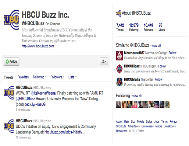 HBCU Buzz Inc. (@HBCUBuzz)    Stay connected with the leading source of HBCU news for America's 105 historically black colleges and universities. This feed dishes the latest in sports, fashion, business and music news within the HBCU community.