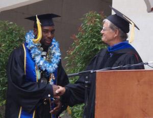 NFL player Alterraun Verner receiving his college degree
