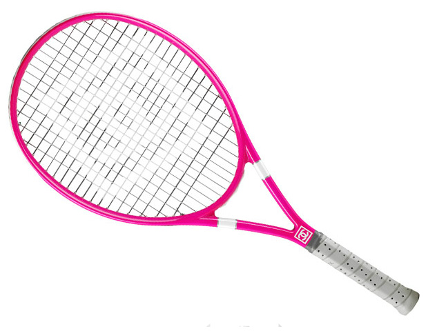MAKE A STATEMENT: Chanel Pink Logo Tennis Racquet (Contact Chanel boutique for pricing info) No need to feel guilty if your favorite game really is fashion and the love of labels. Work hard and, of course, play hard when it comes to this savvy splurge.