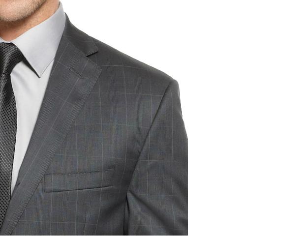 Jacket: Calvin Klein Slim Fit Charcoal Suit (Macys; $299)