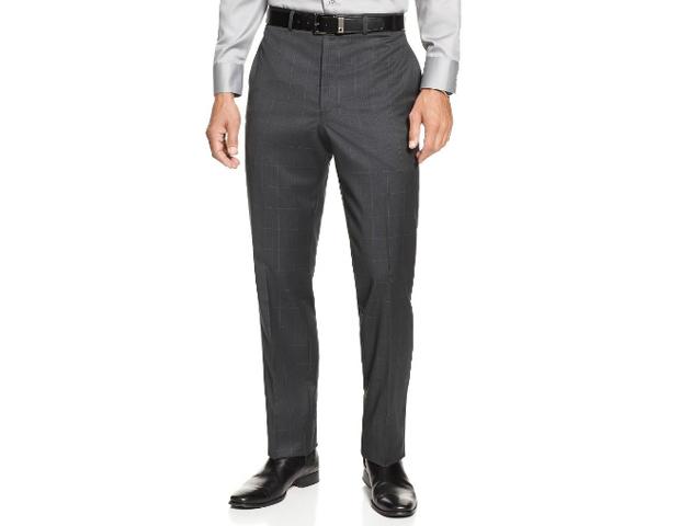Suit Pants: Calvin Klein Slim Fit Charcoal Suit (Macys; $299)