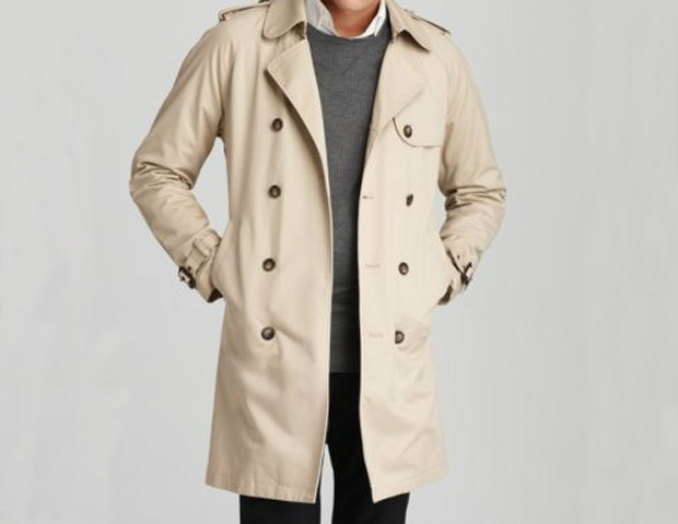 HIS COAT: This is a definite must-have investment, being both versatile and wearable in all seasons. You can wear it on a cooler day before the winter frost comes, layer it with fall items or wear for rainy days. Try a coat in a seasonal blend like this belted Shades of Grey trench, ($264; Bloomingdales) for a sleek, timeless look.