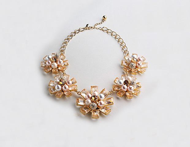 Kate Spade Cluster Flower Necklace ($298)