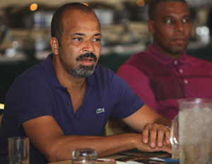 Actor Jeffrey Wright shares his thoughts during the AT&T panel