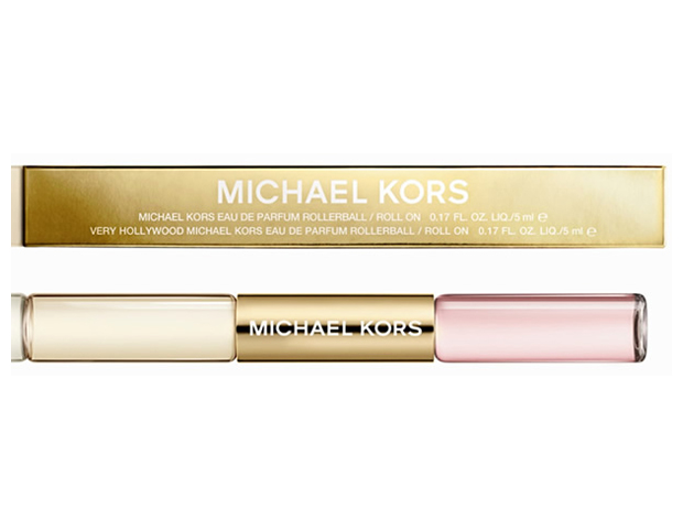 Poppin' Gloss and Scents: Don't you just love a good beauty combo? Get the perfect pout and fragrance all in one with this Michael Kors Rollerball. Air travel friendly, this nifty combo—which includes a perfume with hints of floral and musk and a nude gloss good for topping one's favorite lipstick hue—will ensure you keep the allure going from 9 to well after 5.