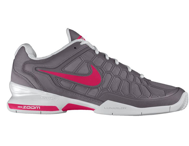 SWOOSH: NIKE Zoom Breathe 2K11 ID Tennis Shoes ($145) Why not support the teammates and top trend in sporting footwear: colored laces and waves of neoprene hues.