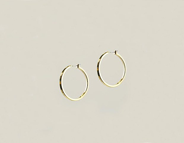 AK Anne Klein Earrings, Large Gold Hoops ($24)