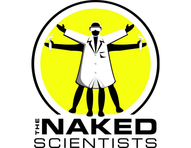 The Naked Scientists      A team of savvy physicians and researchers from Cambridge University narrows even the most complex science topics down to something as simple as a molecule. The award-winning podcast addresses a bevy of scientific themes, from archeology and metallurgy—the study of metals and their properties—to questions you never thought you'd get answered like the reason helium makes one's voice sound animated.  Listeners are able to pose questions by dialing in, sending an email or posting The Naked Scientists a Facebook message or tweeting their account.