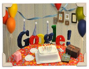Google turns 13 (Image: Google)