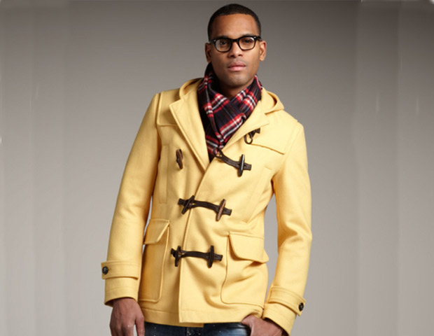 DSquared2 yellow Montgomery toggle-jacket; $1,840