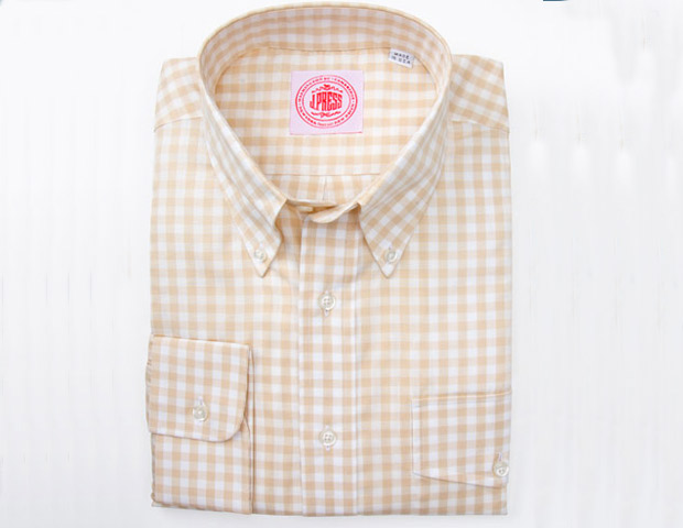 J. Press gingham plaid shirt; $120