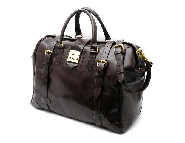 Mulholland Brothers all leather safari weekend bag (monogramming available); $895