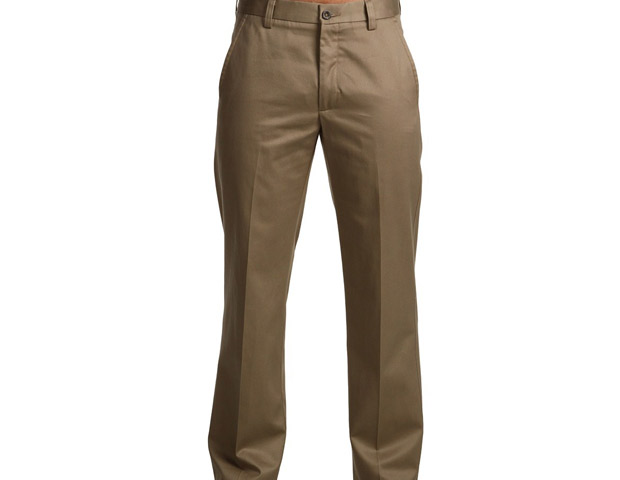 Dockers never-iron essential British khaki slim fit pants; $60
