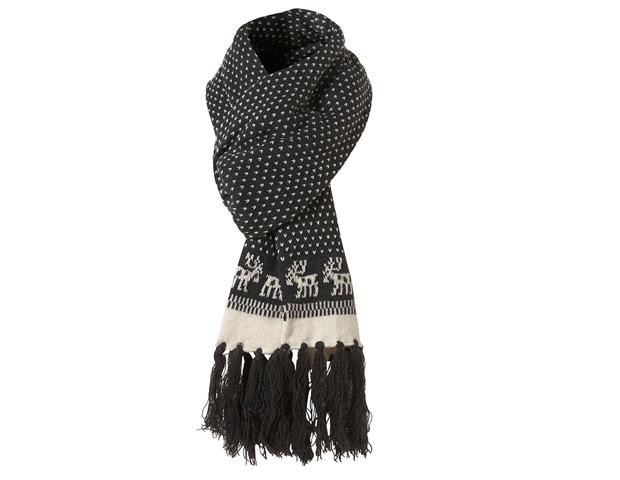 Top Man charcoal moose print scarf; $28