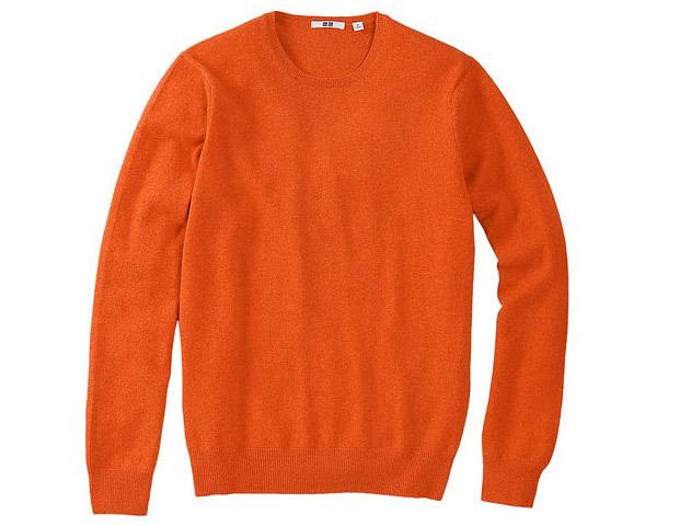 Uniqlo cashmere crew neck sweater; $100