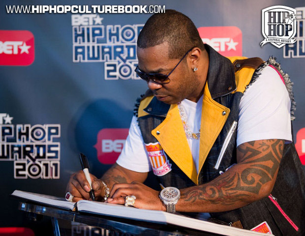 Hip-hop legend Busta Rhymes adds his name to the list of signees.