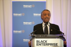 Rev. Al Sharpton addressing the audience at the 20/20 Vision Jobs Forum in New York