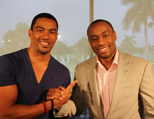 Actor Laz Alonso with Our World host Marc Lamont Hill