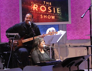 Barnes working her magic on the set of The Rosie Show