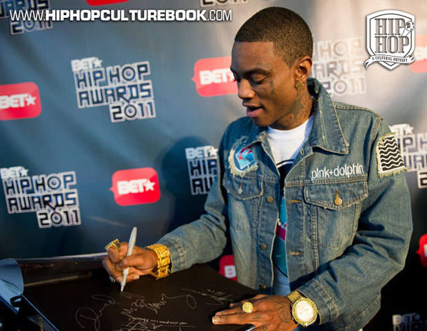 Atlanta rapper Soulja Boy makes his mark in the culture book.