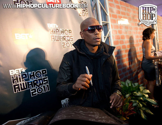 Actor/R&B star Tyrese leaves his mark in the hip-hop history book.